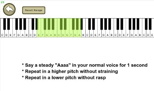 Voice range feature